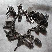 Old Japanese Chinese Oriental Charm Bracelet