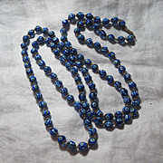 Old Blue Glass Beads