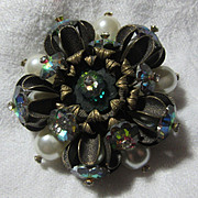 Great Brooch Green Watermelon Stones