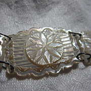 Carved Mother Of Pearl Bracelet MOP