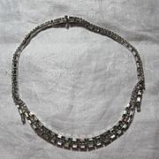 Signed Kramer New York Rhinestone Choker Necklace