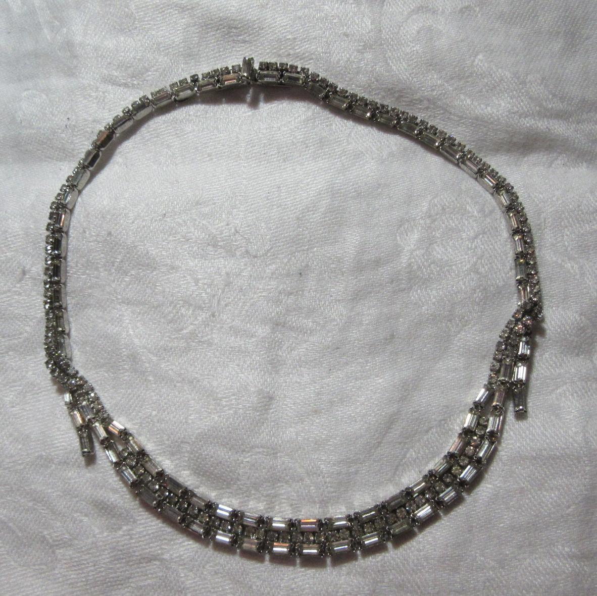 Signed Kramer New York Rhinestone Choker Necklace