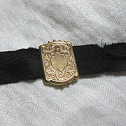 Antique Victorian Gold Slide On Ribbon