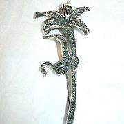 Judith Jack JJ Sterling Marcasite Flower Pin