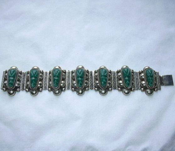 Silver & Green Bracelet Mexico