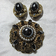 Old W Germany Pin Earring Set