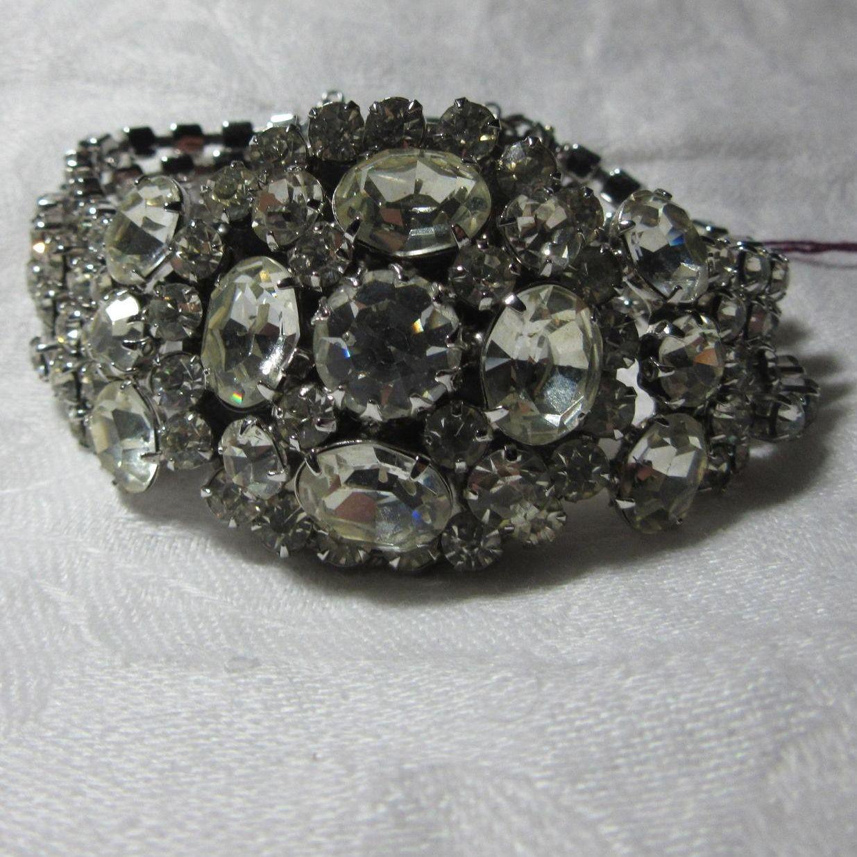 Vendome Wide Fancy Rhinestone Bracelet