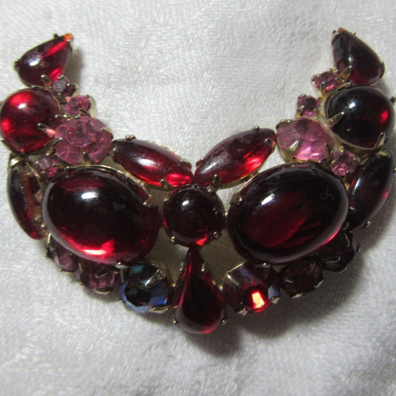 Weiss Red Brooch