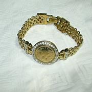 Panetta Gold Tone Bracelet Queen Elizabeth II Medallion