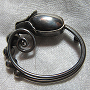 Georg Jensen Sterling Silver Signed Pin Brooch Fine Designer Jewelry