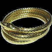 Gold Tone Metal Snake Bracelet