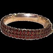 3 Row Garnets Bracelet