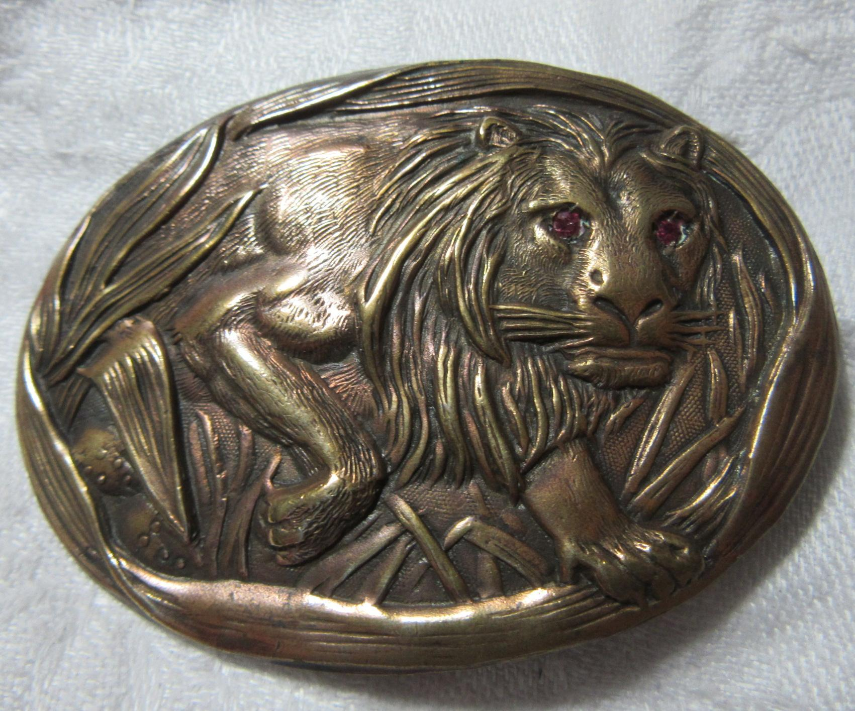 Old Lion Brooch Sash Buckle Fine Jewelry