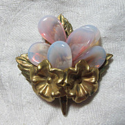 Old Unmarked Miriam Haskell Brooch Pin