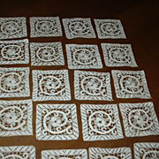 Set 51 Fine Needlework Lace Squares