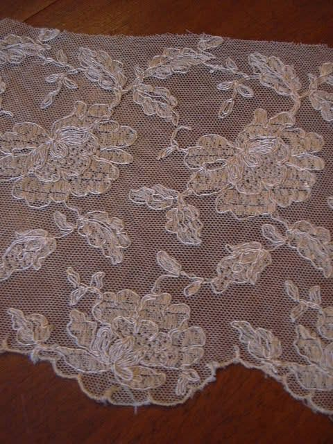 Old Ecru Needle Lace Panels Yardage Trim