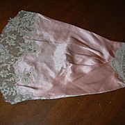 Ecru Fine Lace On Original Peach Silk Sleeve