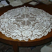 Large Filet Crochet Lace Circle