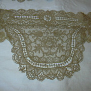 Ecru Antique Lace Clothing Panel