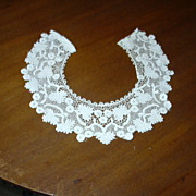 Old White Crochet Lace Collar