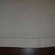 Old Huck & Damask Irish Linen Towel