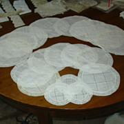 Set 18 Batiste Cotton & Lace Rounds