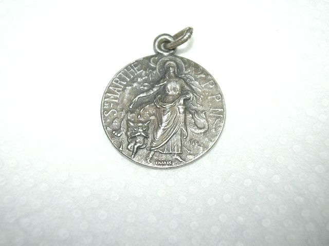 Old French Medal St Martha