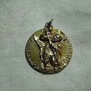 Gold Filled Large St Christopher Medal