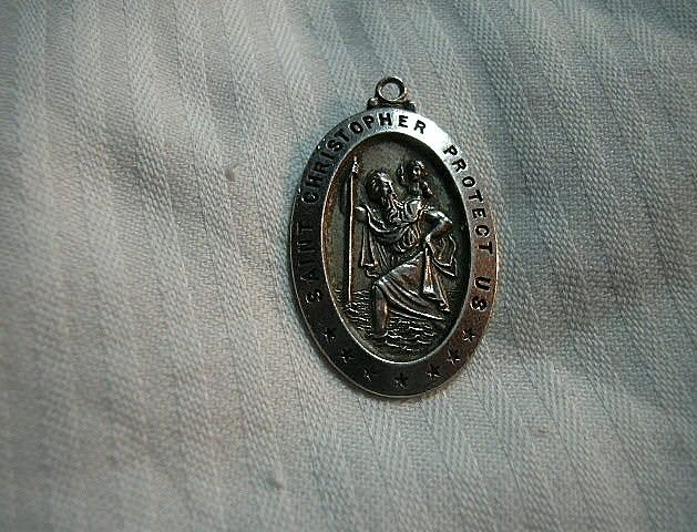 St Christopher Sterling Silver Medal