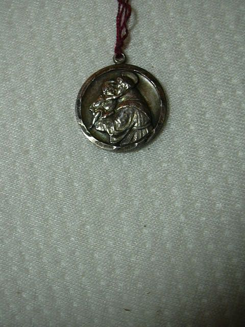 Sterling Silver St Anthony Medal