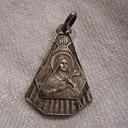 Old French St Teresa Lisieux Medal