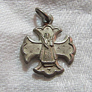 Virgin Mary Our Lady Of Einsiedein  Switzerland Cross  Medal