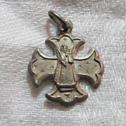 Virgin Mary Our Lady Of Einsiedein  Switzerland Cross  Medal