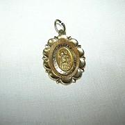 14K Gold St Christopher Medal