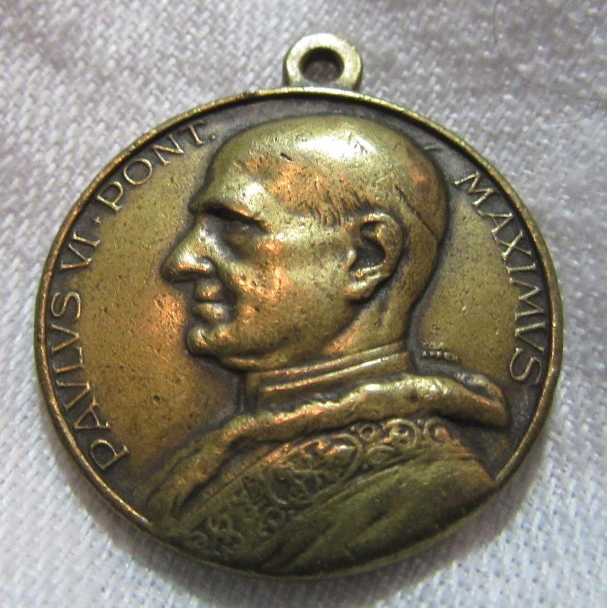Bronze Medal Pope Paul VI & St Christopher