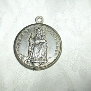 1960 Our Lady Mt Carmel Signed Medal Madonna Del Carmelo Poughkeepsie NY