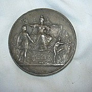 1921 Bronze Medal Paris Alliance Syndicale Du Commerce Fine Metalwork