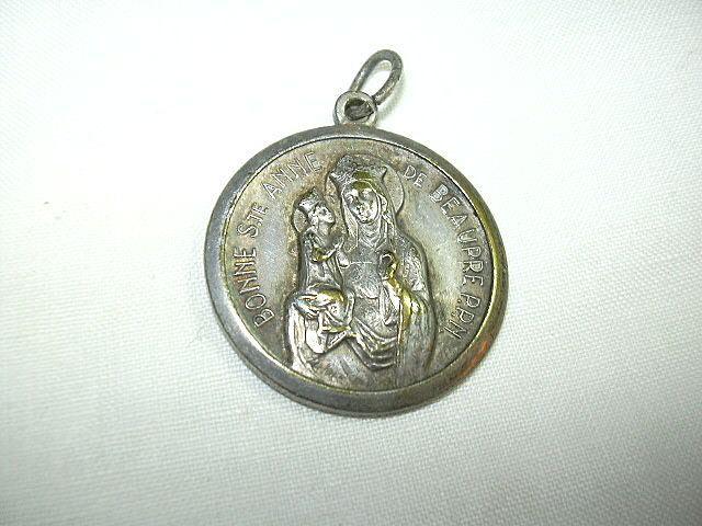 St Anne De Beaupre & St Christopher Medal