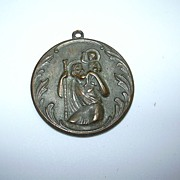 Large Old Bronze St Christopher Medal Pallottine Fathers Crusade