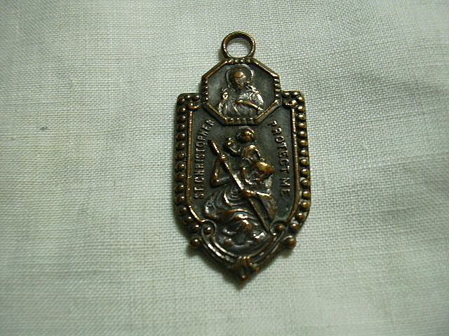 Old Unusual St Christopher Medal