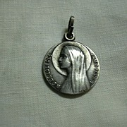 Virgin Mary Our Lady Of Lourdes St Francis Signed Medal