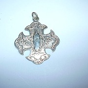 Virgin Mary Lourdes French Medal Unusual Design