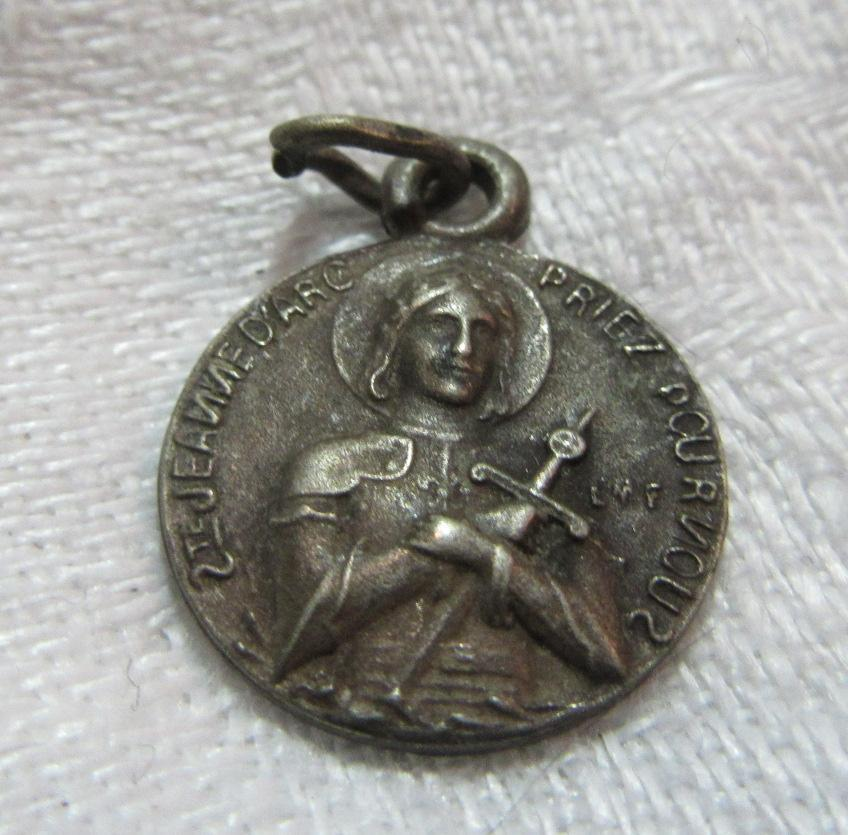 St Joan Of Arc Old French Catholic Medal