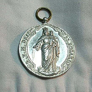 Large Our Lady Of The Rosary Eucharist Medal
