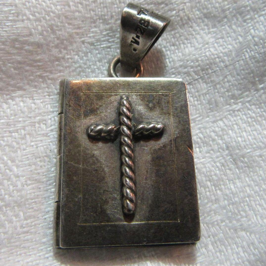 Sterling Silver Taxco Religious Locket Medal