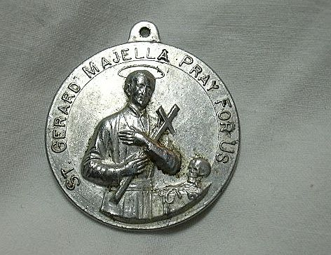 St Gerard Majella Virgin Mary Our Lady Of Perpetual Help Large Medal