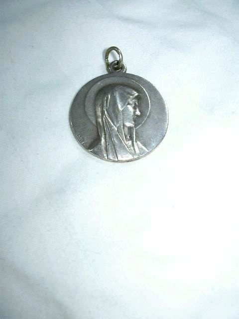 Large Our Lady Lourdes Virgin Mary Medal Signed