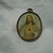 Sacred Heart Jesus Framed Art Medal