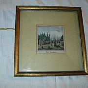 Old Hand Tinted Miniature Landscape Das Steinthor Fine Art