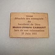 Blessed Marie Joseph Cassant Paper Reliquary